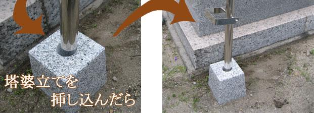 墓用仏具、らくらく設置の塔婆立ての通販・販売