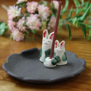 お香立て・お香皿 うさぎ ウサギ 通販・販売
