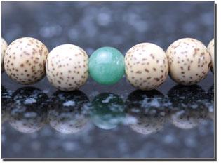女性用数珠(京念珠) 星月菩提樹/翡翠仕立ての通販・販売