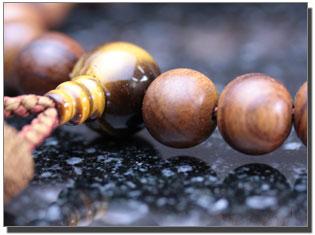 男性用数珠(京念珠) 栴檀/虎目石仕立の通販・販売