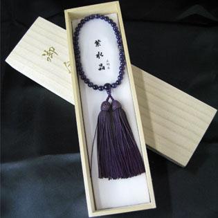 女性用数珠(京念珠)紫水晶 7mm玉仕立の通販・販売