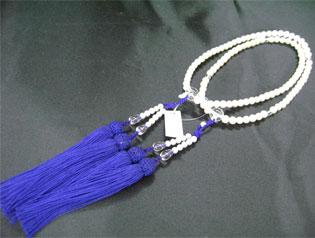女性用数珠(京念珠)淡水真珠/水晶 二輪仕立ての通販・販売