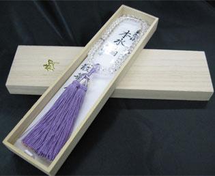 女性用数珠(京念珠)本水晶/ローズアメジスト仕立 スターシェイブカットの通販・販売