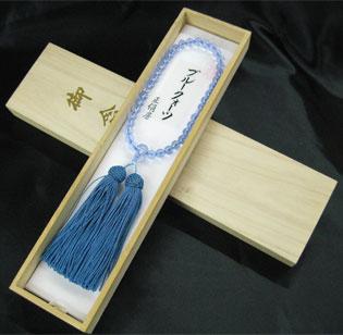女性用数珠(京念珠)ブルークォーツ/共仕立の通販・販売
