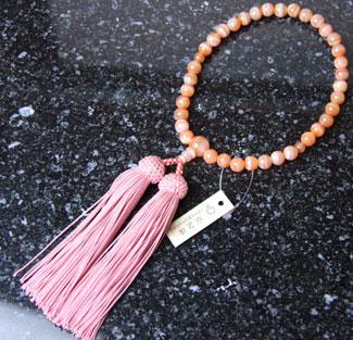 女性用数珠(京念珠)縞瑪瑙/共仕立の通販・販売